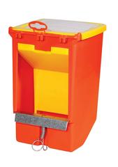 Бункерная кормушка для кроликов, с крышкой и держателем для учетной карточки