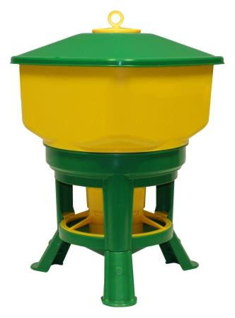 Бункерная кормушка на ножках с разд. решеткой на 21 кг Kubic Premium